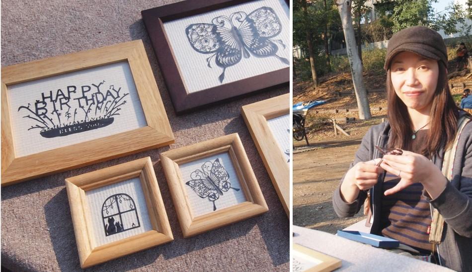 アートマーケッツとヘブンアーティストな人々|その16「paper tripさん(切り絵作家)」