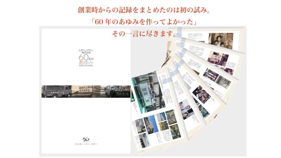 [制作事例]ムサシノアロー株式会社様 『60年のあゆみ』