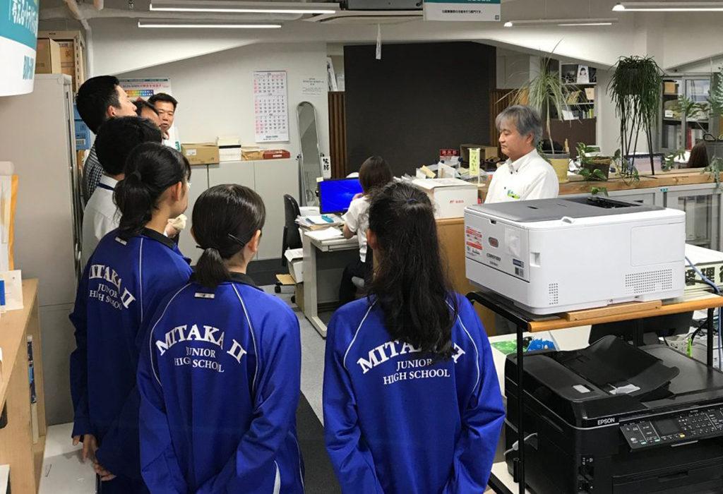 中学生の職場体験(2018年6月)